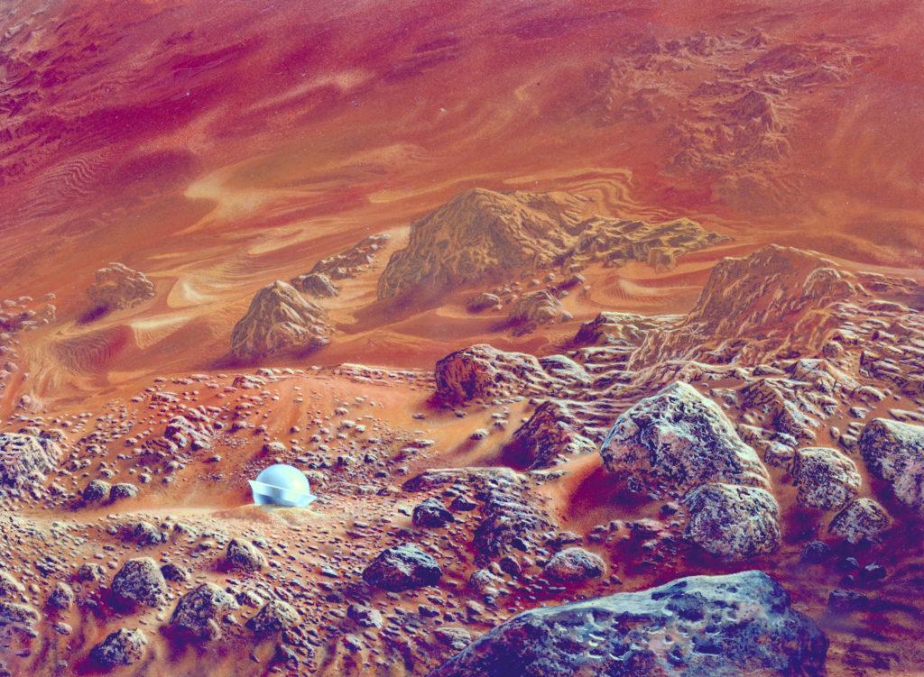 NASA concept art by Don Davis. Public domain.